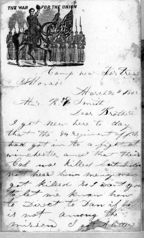 letter from Isaac Smith, page 1