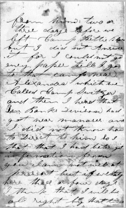 letter from Sgt. William Hagerson, page 2