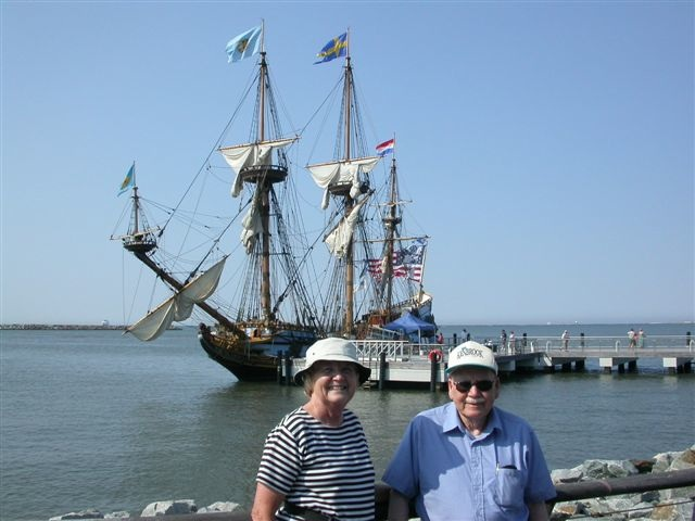 Joe and Dolly before the Kalmar Nyckkel 2003