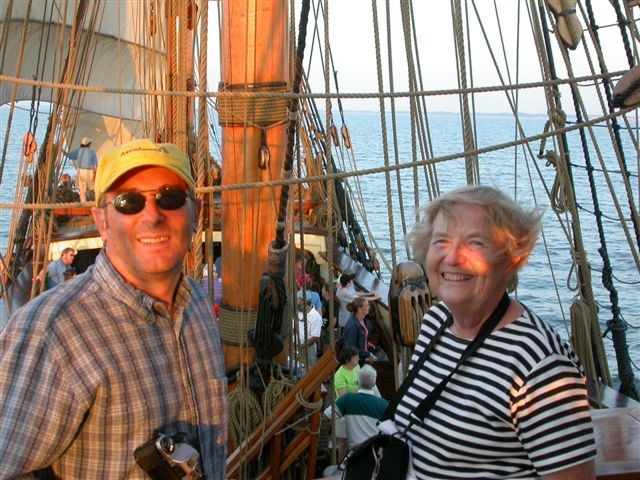 paul and dolly aboard the kalmar nyckel