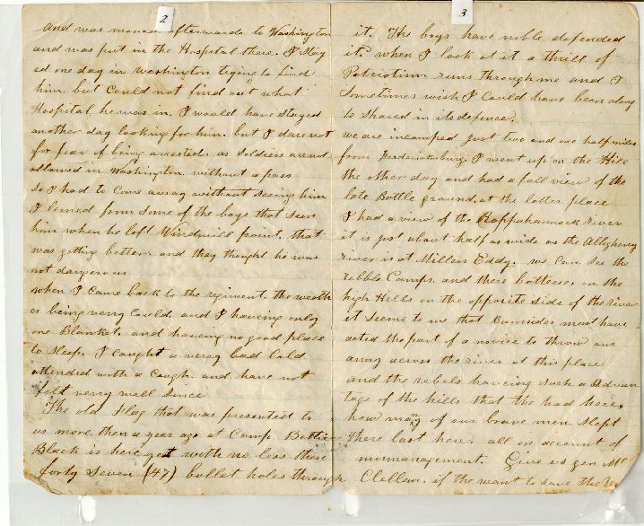 letter from Sgt. William Hagerson, pages 2 and 3